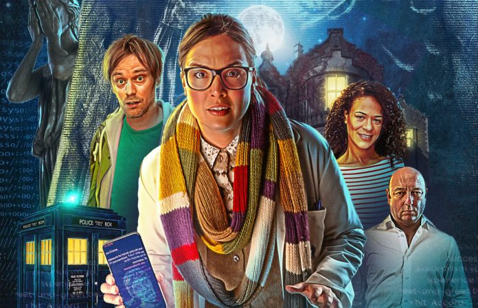 Doctor Who: The Lonely Assassins. Art by Lee Binding (c) Maze Theory Blink Osgood Weeping Angels TARDIS Wester Drumlins Larry Nightingale UNIT