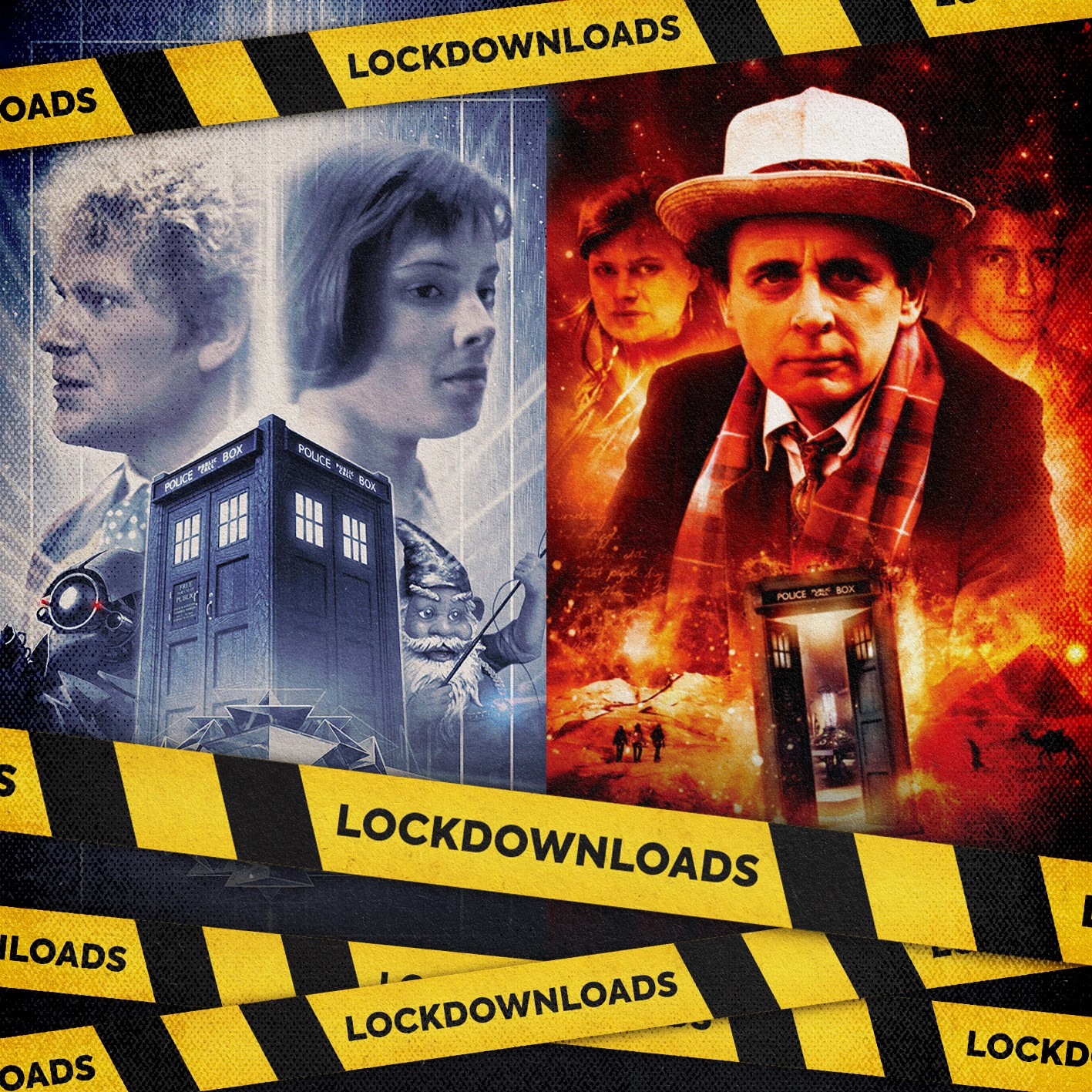 Two new #lockdownloads for this week - An Eye for Murder and The Word Lord (c) Big Finish Productions Doctor Who Colin Baker Sylester McCoy Nicola Bryant Sixth Doctor Seventh Doctor Peri