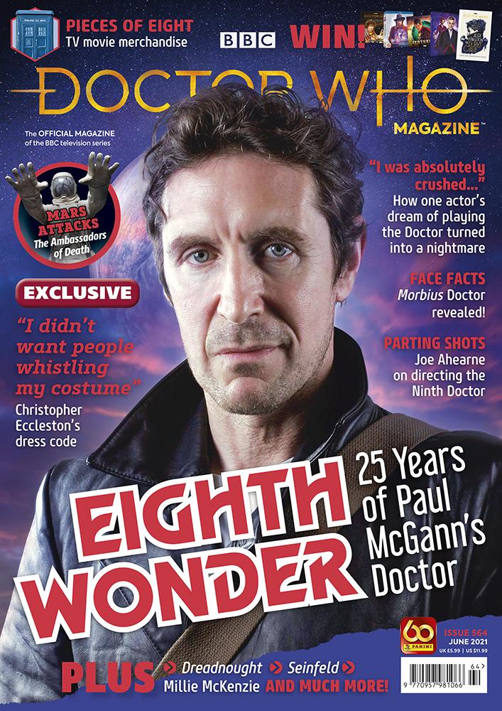 Doctor Who Magazine issue 564 (c) Panini Paul McGann Eighth Doctor