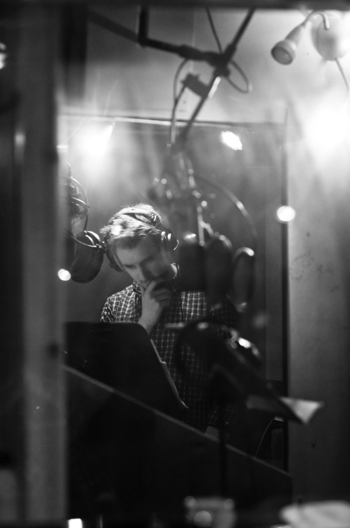 Arthur Darvill at the recording of The Lone Centurion (c) Jon Pourtney Doctor Who Rory Williams
