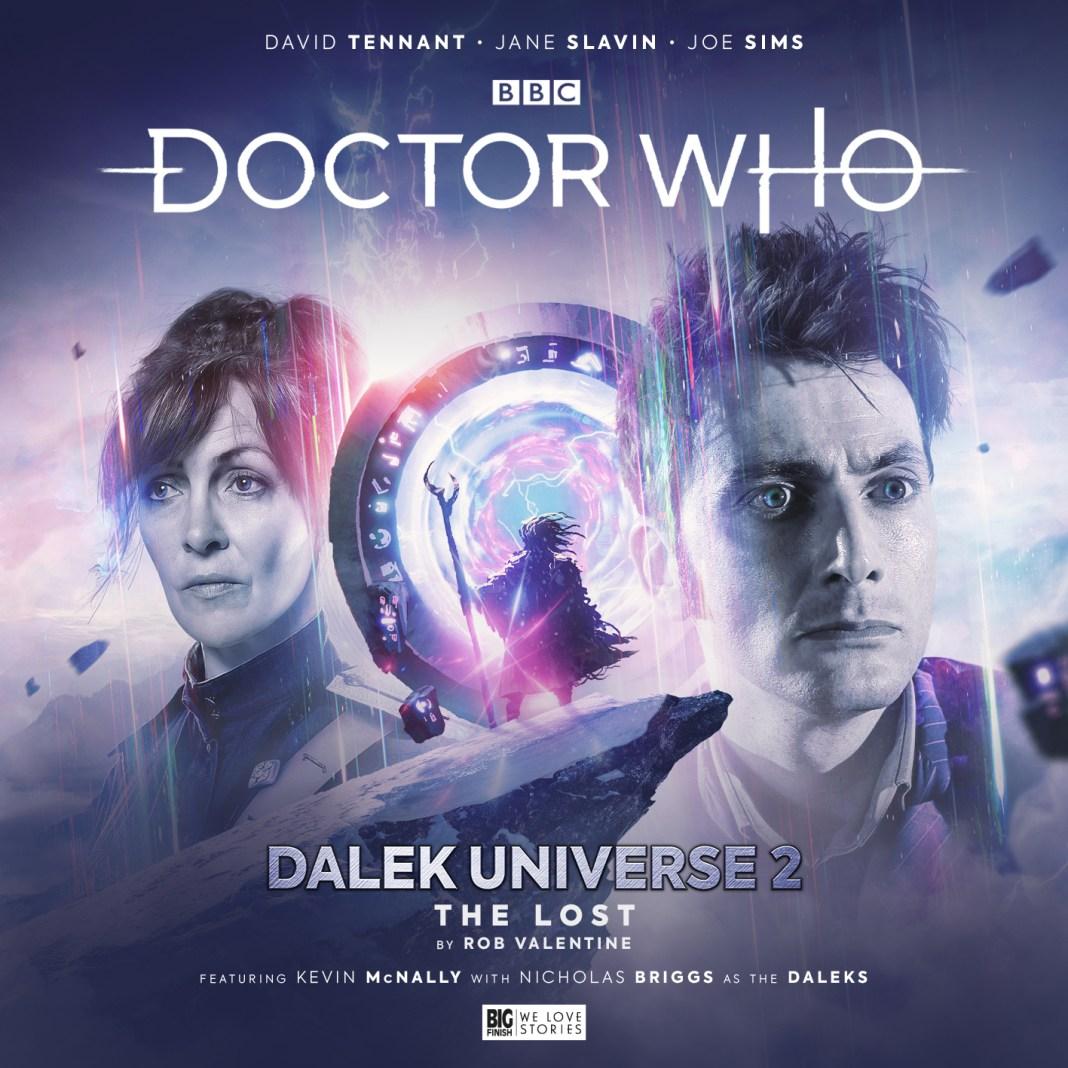 Doctor Who: The Lost. Cover by Simon Holub (c) Big Finish Productions Dalek Universe David Tennant Tenth Doctor Jane Slavin Anya Kingdom