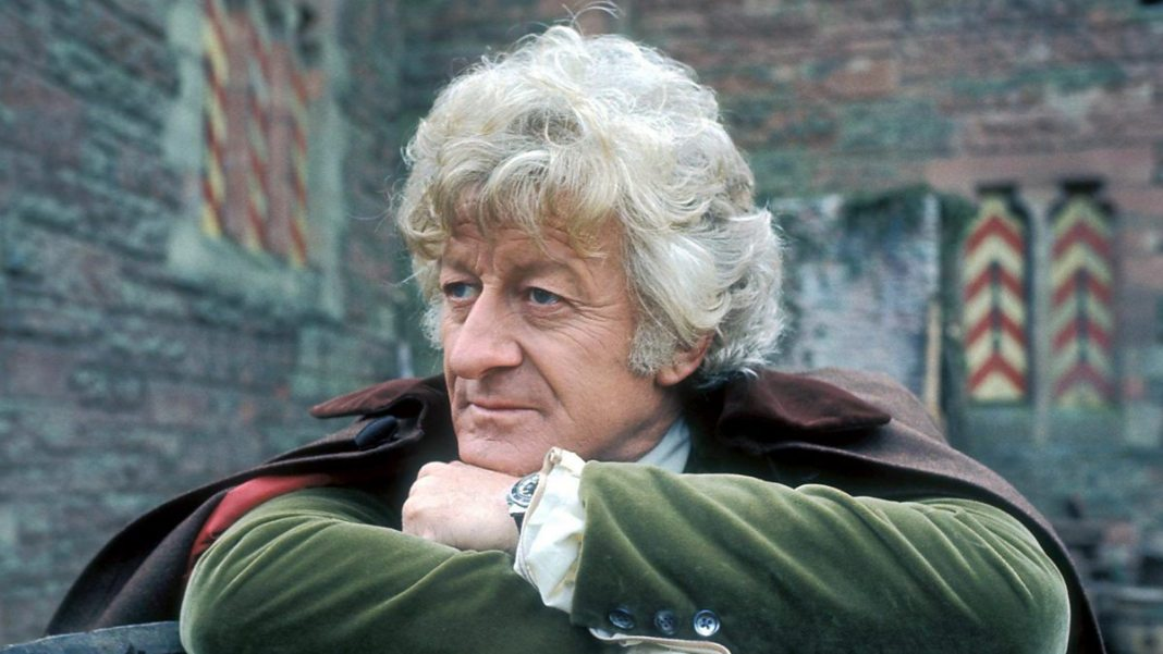 Jon Pertwee as the Doctor (c) BBC Studios Doctor Who Third Doctor The Time Warrior