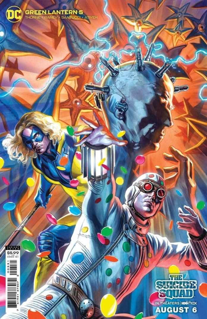 Green Lantern #5. The Suicide Squad variant cover by Felipe Massafera (c) DC Comics Doctor Who Twelfth Doctor Peter Capaldi Thinker Polka-Dot Man Javelin