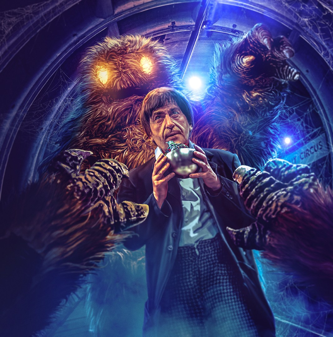 Doctor Who: The Web of Fear. Cover art by Lee Binding. (c) BBC Studios Second Doctor Patrick Troughton Yeti London Underground