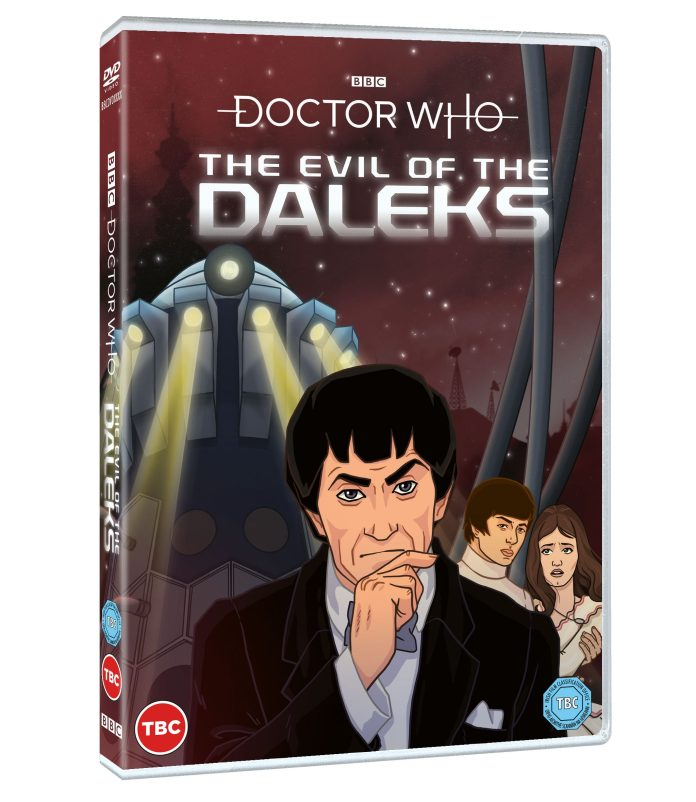 Doctor Who: The Evil of the Daleks DVD cover (c) BBC Studios Second Doctor Jamie MacCrimmon Victoria Waterfield Emperor Dalek Patrick Troughton