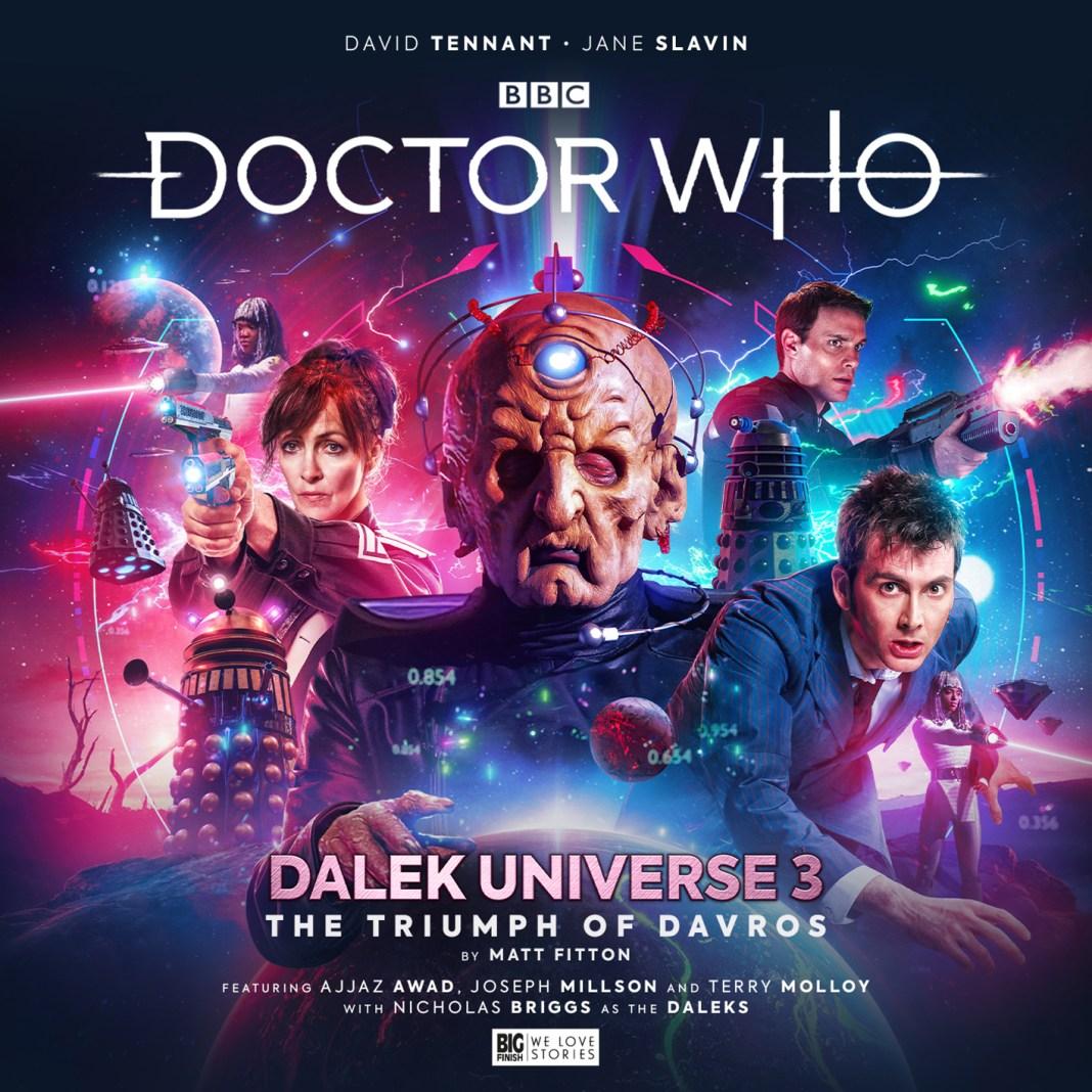 Doctor Who: Dalek Universe - The Triumph of Davros. Cover by Simon Holub. (c) Big Finish Productions Tenth Doctor David Tennant Jane Slavin Anya Kingdom Terry Molloy Dalek Supreme Planet of the Daleks