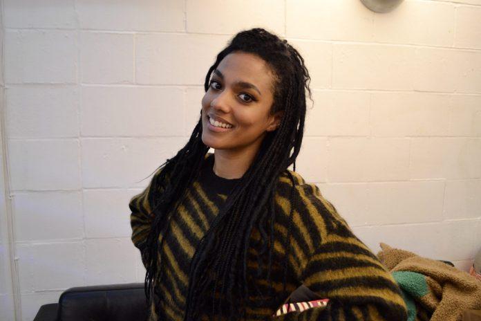 Freema Agyeman at the recording of The Year of Martha Jones for Big Finish (c) Big Finish Productions