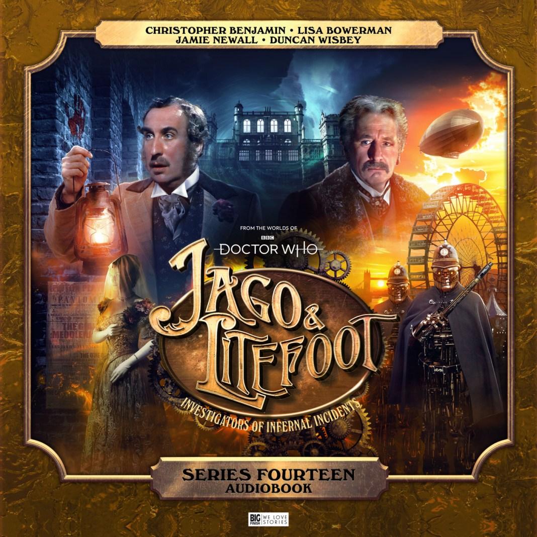 Jago & Litefoot Series 14. Cover by Tom Newsom Doctor Who Christopher Benjamin Big Finish Henry Gordon Jago