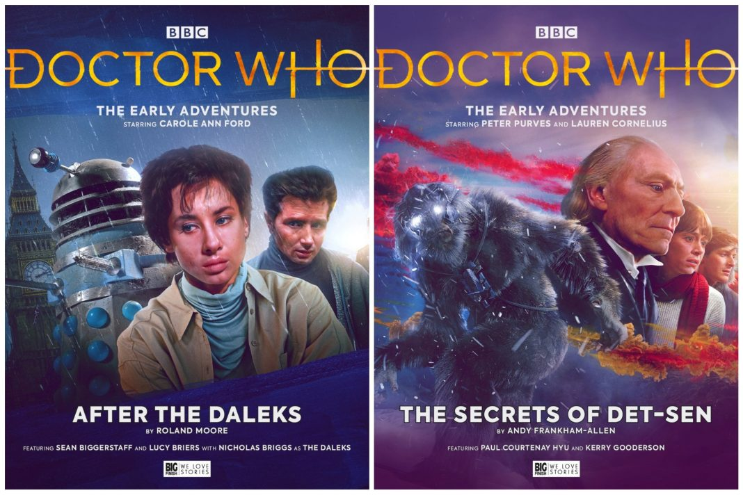 After the Daleks and The Secrets of Det-Sen, released today (c) Big Finish Productions Doctor Who Susan Foreman Dalek Invasion of Earth Yeti Abominable Snowmen