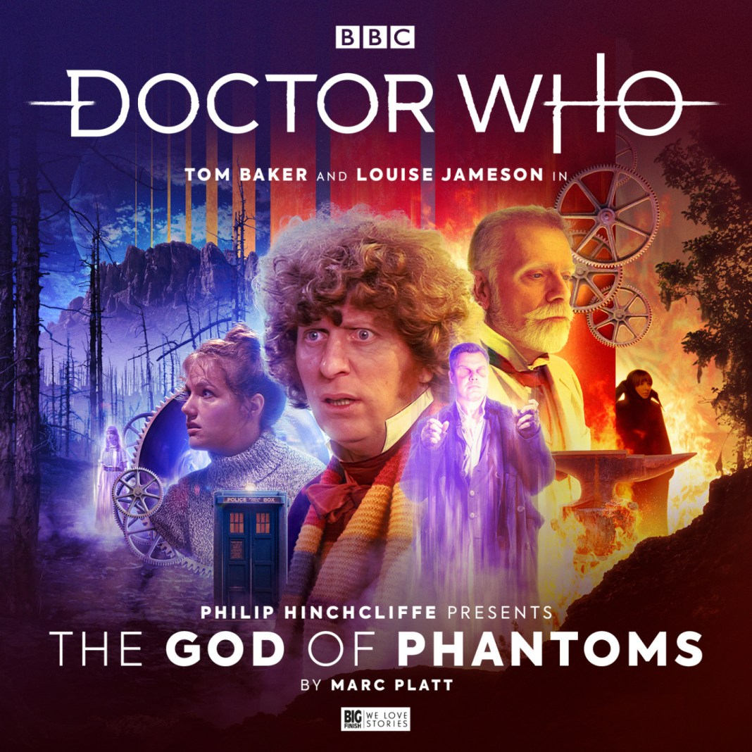 Doctor Who: Philip Hinchcliffe Presents - The God of Phantoms. Cover by Ryan Aplin. (c) Big Finish Productions Tom Baker Louise Jameson Leela Fourth Doctor
