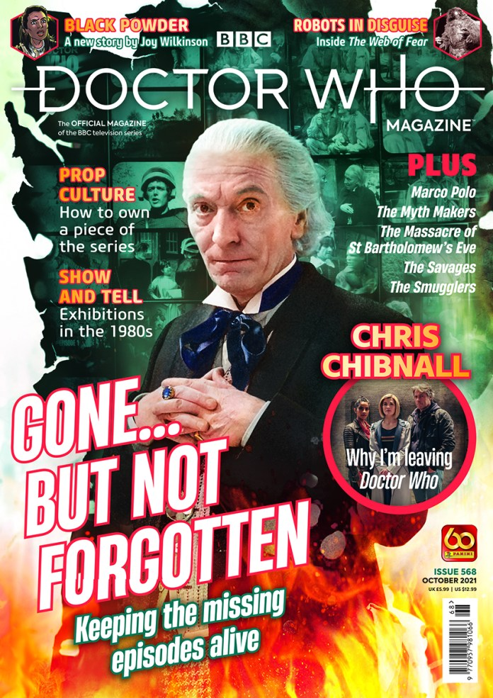 Doctor Who Magazine 568. (c) Panini First Doctor Chris Chibnall Missing Episodes