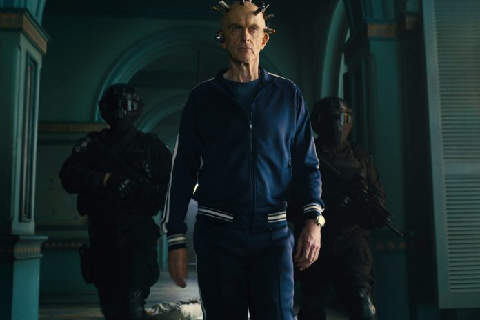 Peter Capaldi as the Thinker - not quite the Biggest Bad in The Suicide Squad (c) Warner Brothers Doctor Who Twelfth Doctor