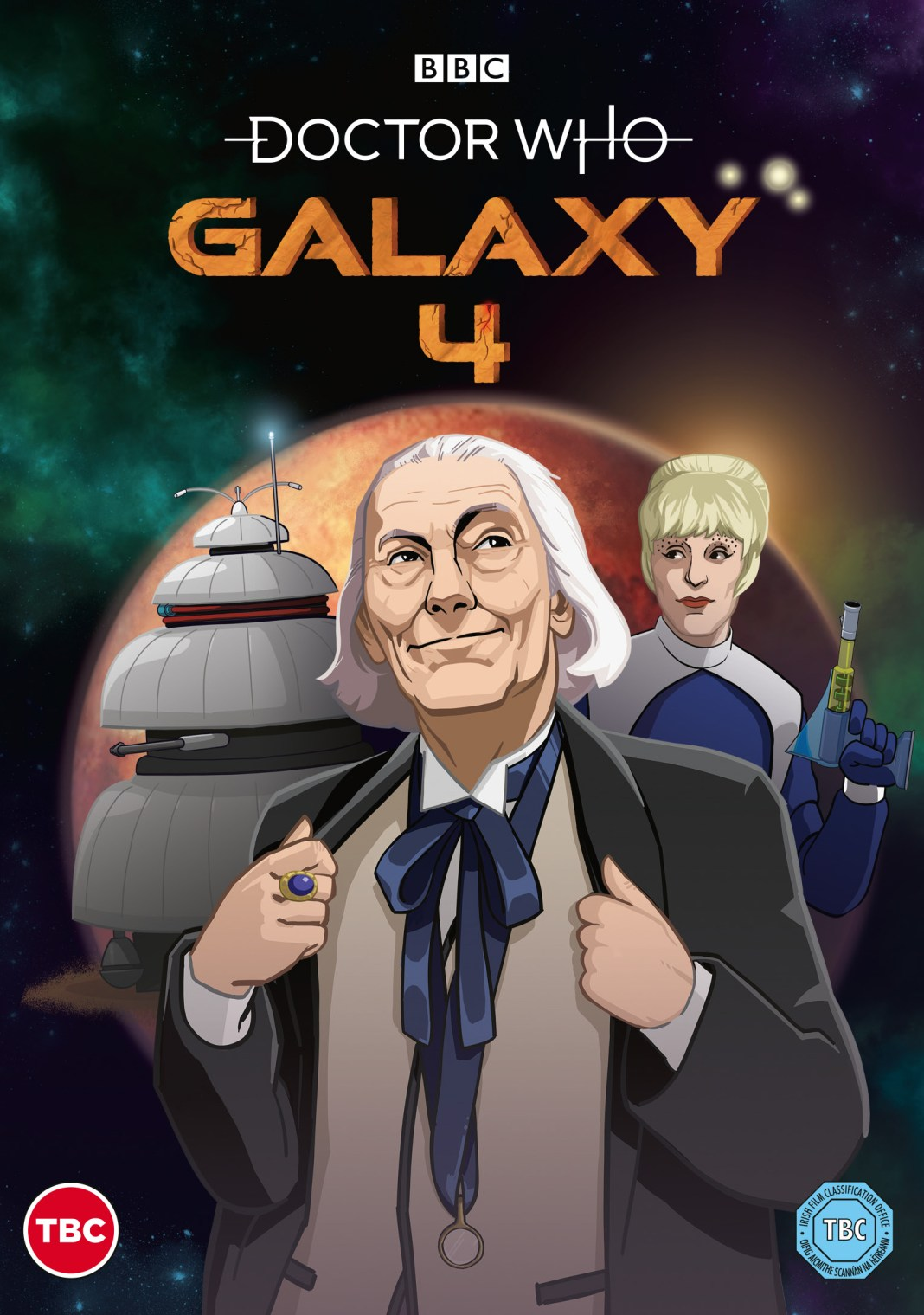 Doctor Who: Galaxy 4 DVD (c) BBC Studios First Doctor William Hartnell Drahvins Maaga Chumblies Animated