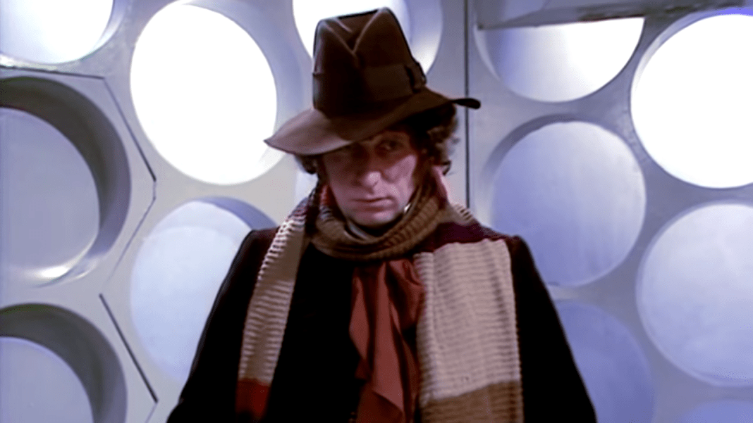 Tom Baker as the Doctor in Pyramids of Mars (c) BBC Studios Fourth Doctor Doctor Who
