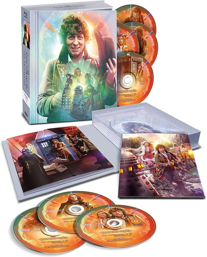 Doctor Who: The Collection - Season 17. Cover and illustrations by Lee Binding. (c) BBC Studios Tom Baker Fourth Doctor Douglas Adams