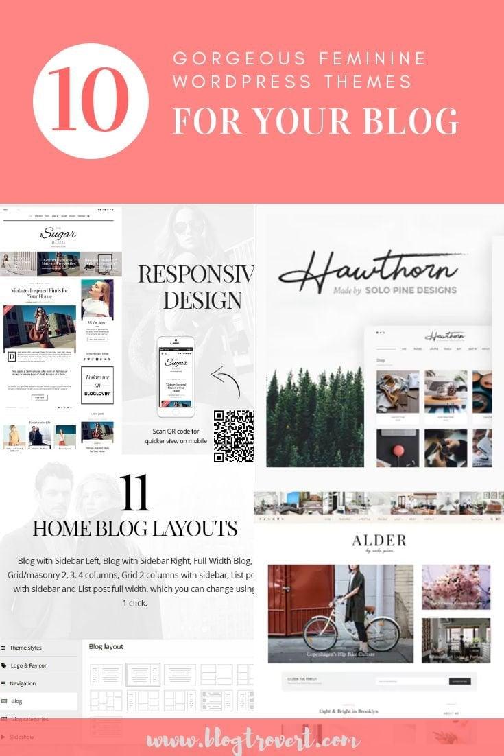 10 Gorgeous Feminine WordPress Themes For Lifestyle Blogs 1