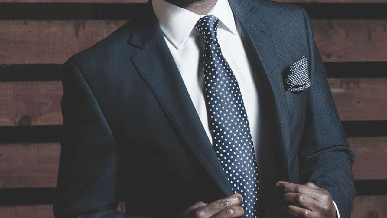 Man on suit