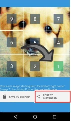 Compartilhar fotos recortadas Instagram