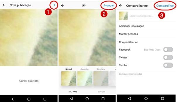 Compartilhar grade Fotos Instagram