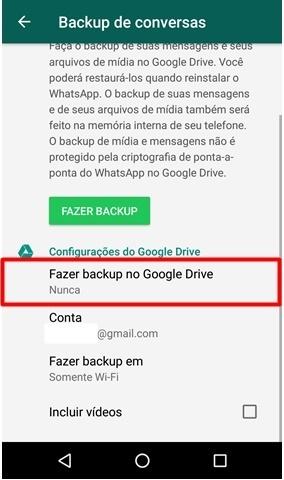Desativar copia mensagens WhatsApp
