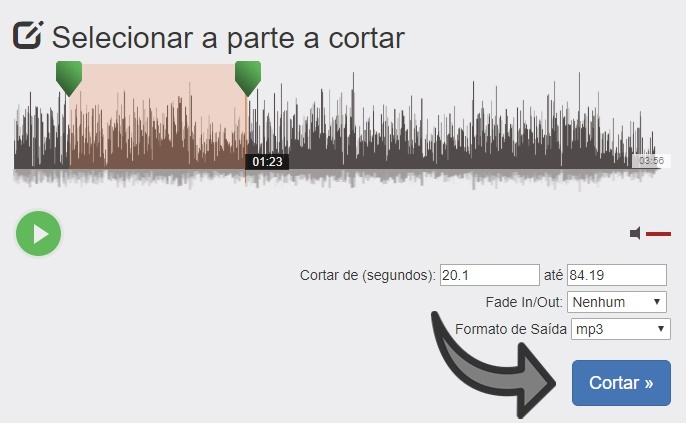 recortar mp3 no pc online