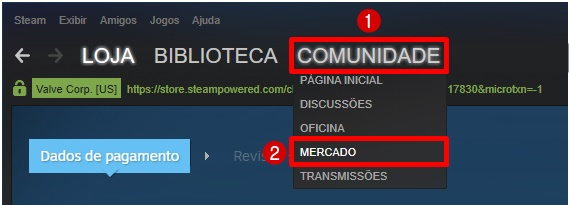 skin cs go mercado steam comprar