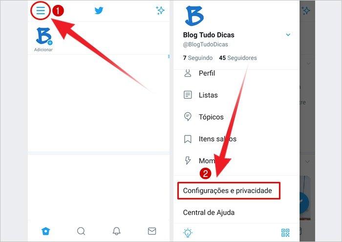 Como excluir conta do Twitter pelo celular