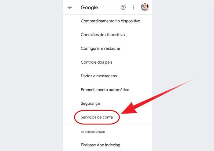 Como salvar lista de contatos no Google