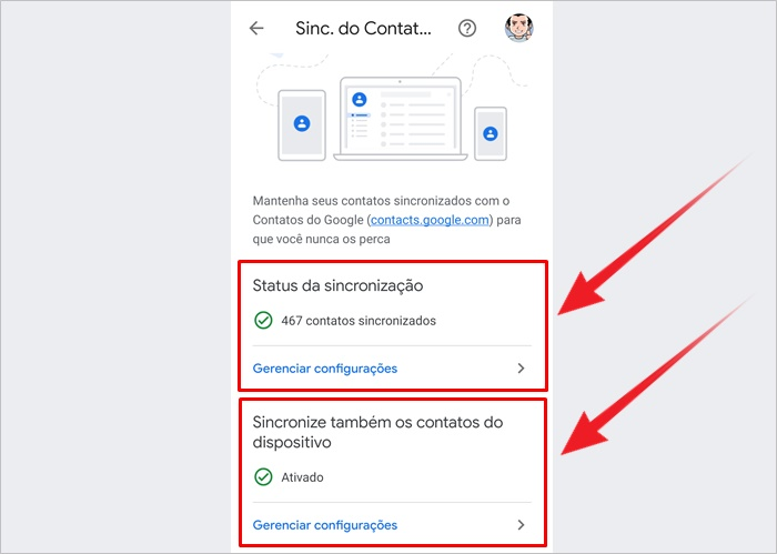Como salvar meus contatos no Google