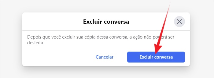 Excluir chat Facebook Messenger