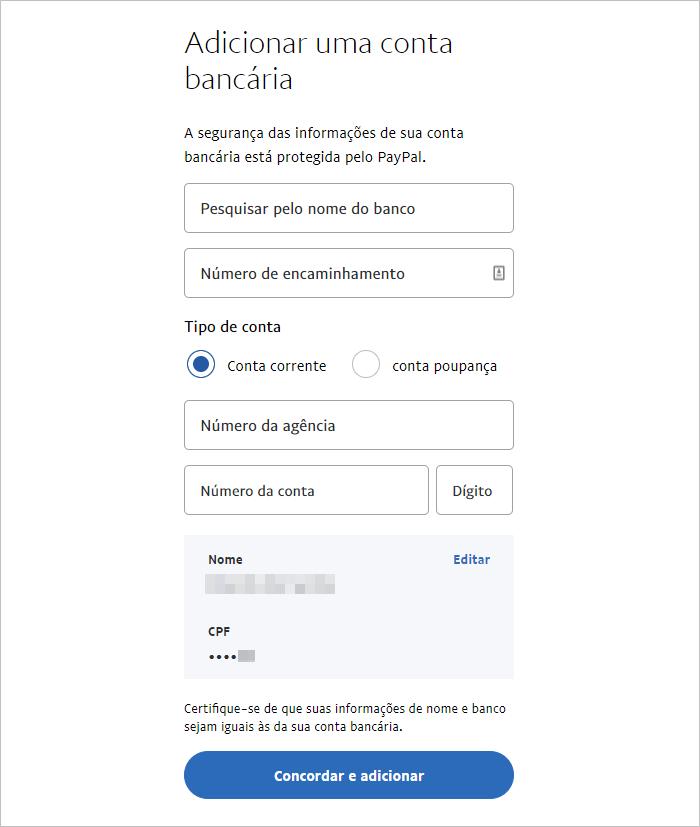 Receber pagamento PayPal