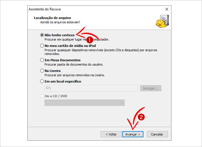 Recuperar arquivos formatados do PC