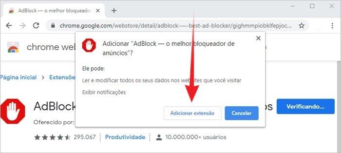 Tirar anúncio Google Chrome