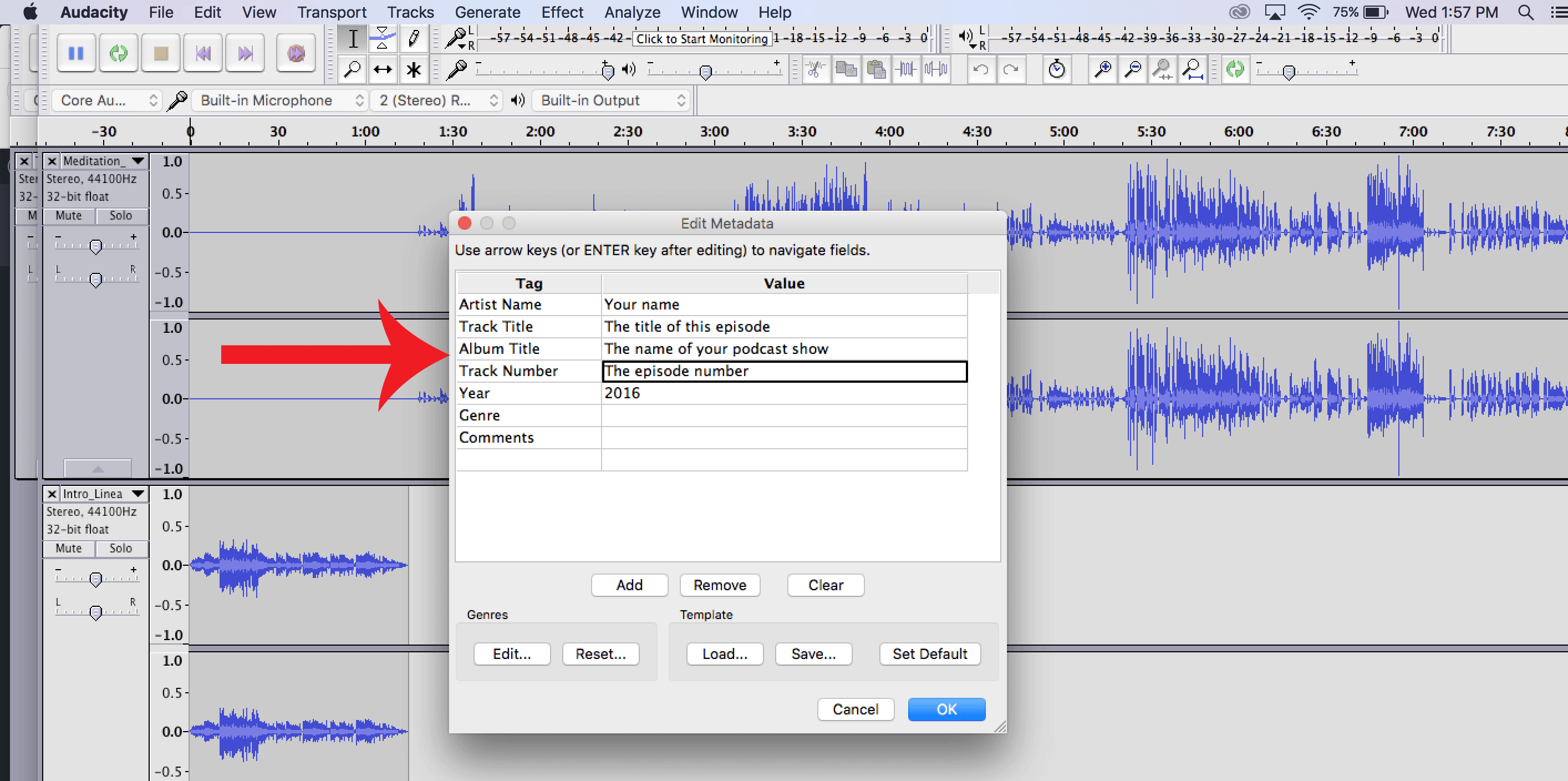 Exporting an MP3