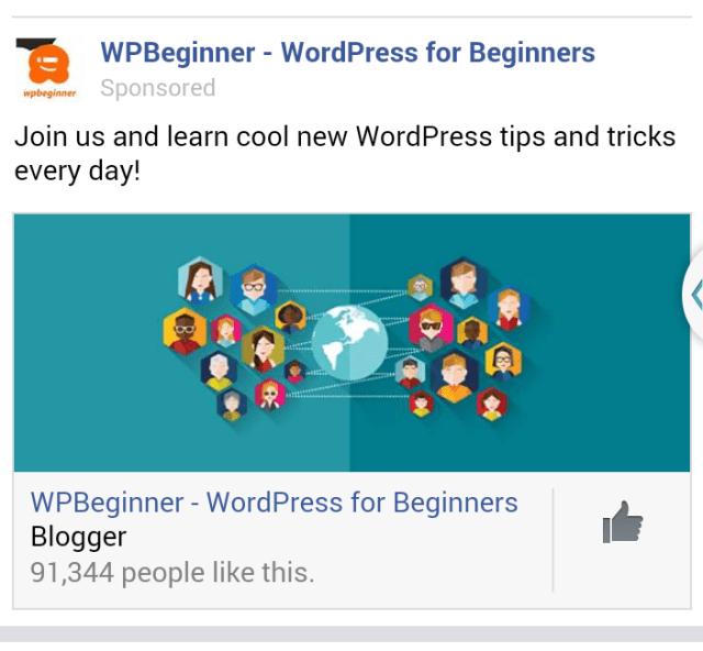 wpbeginner facebook ad