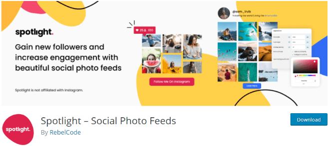 Flux sociaux Spotlight