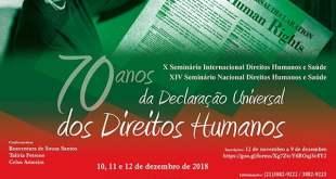 X Seminário Internacional Direitos Humanos e Saúde e XIV Seminário Nacional Direitos Humanos e Saúde
