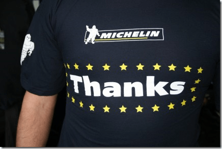 T-shirt Thanks Michelin Merci MotoGP