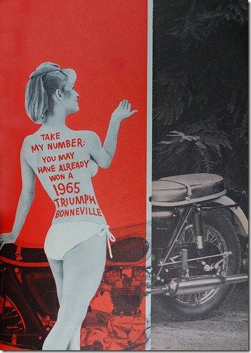 Girl Triumph Bonneville