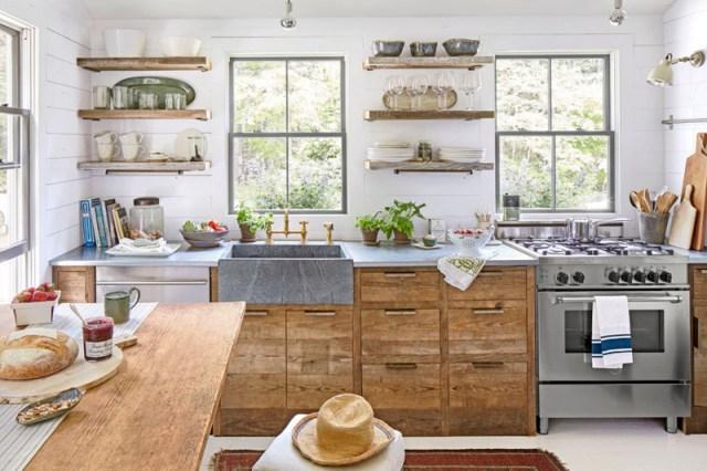 decoracao de cozinha prateleiras