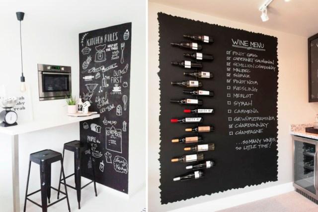decoracao de cozinha quadro negro