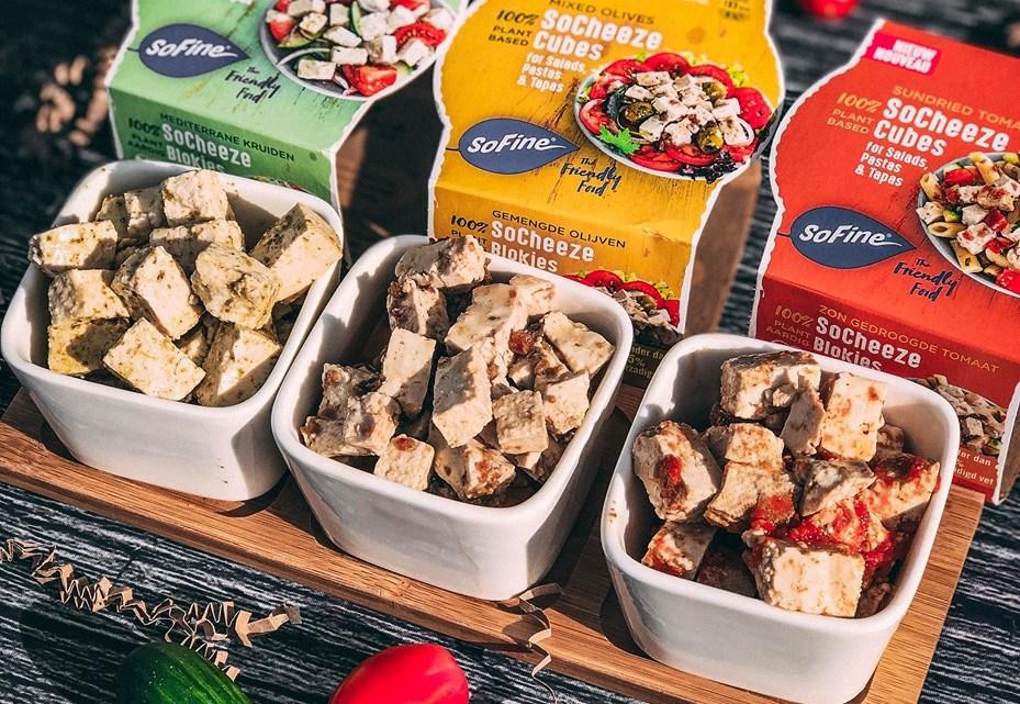 Sofine Foods Lanceert 100% plantaardige Feta kaasblokjes