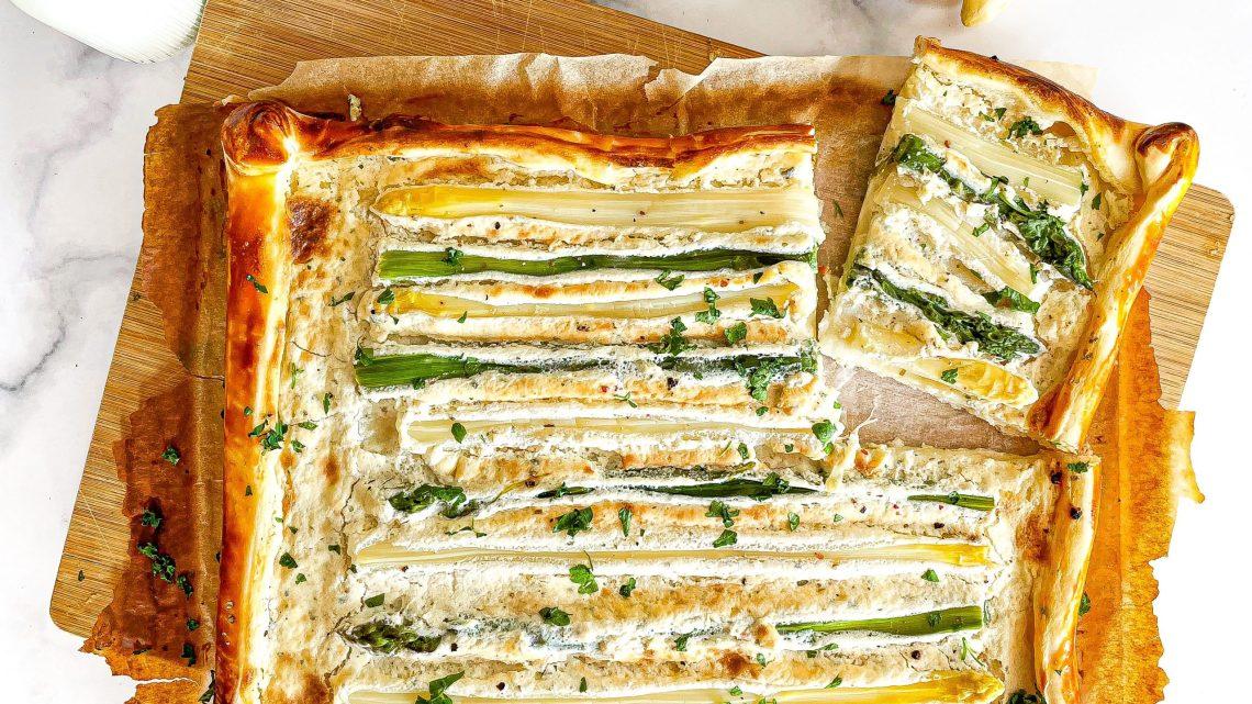 Recept | Plaattaart met asperges