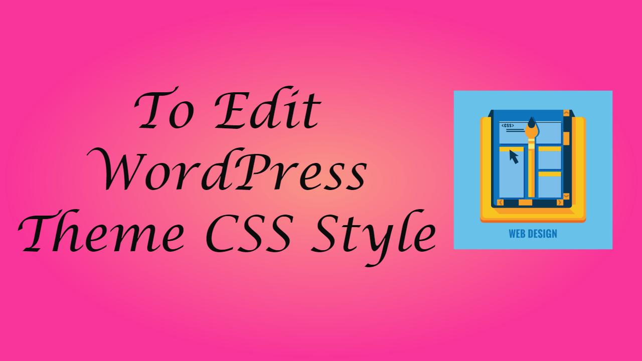 WordPress Theme CSS Style