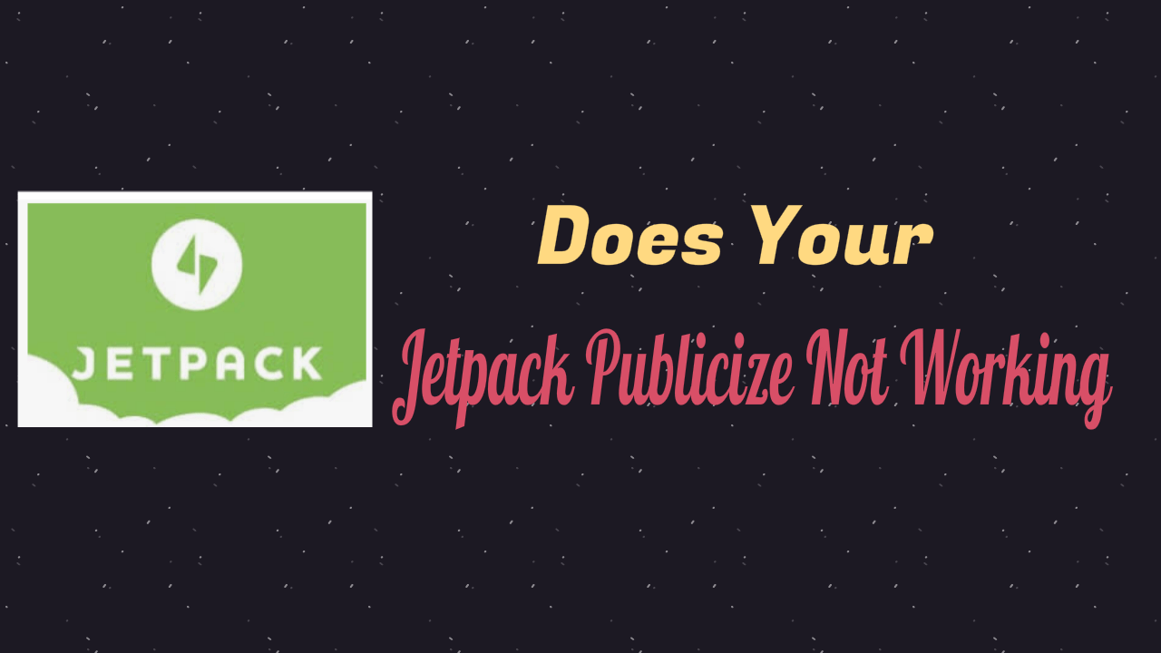 Jetpack Publicize Not Working