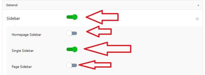 AMP for WP sidebar configuration settings
