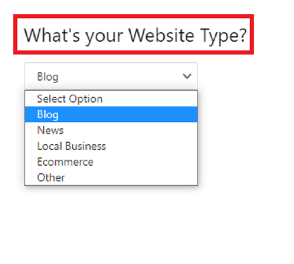 Configure AMP website type