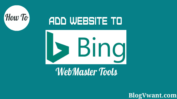 submit website to bing webmaster tools