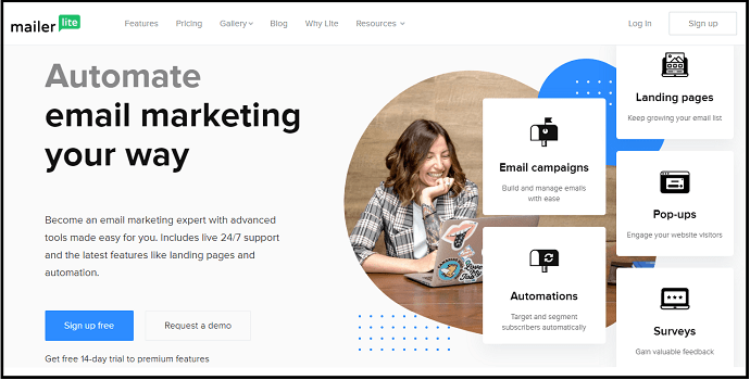 Mailerlite-Email Marketing-official-webpage