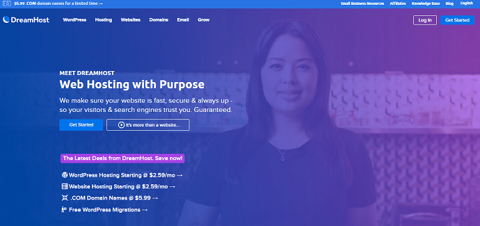 DreamHost-Official-Website-Page-one-of-the-best-WPEngine-Alternatives